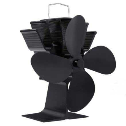 FEMOR Ventilateur poêle à bois (4 Pales)