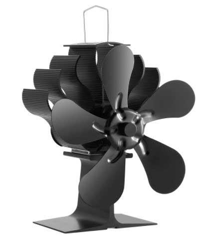 Le ventilateur pour poêle à bois à 5 lames PREUP. Un des modèles le plus vendu.